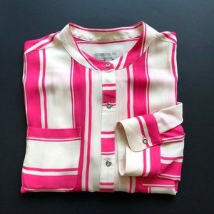 BANANA REPUBLIC - Striped Button Down Blouse